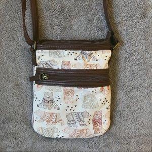 Cute Bear Print Cross Body Bag Purse